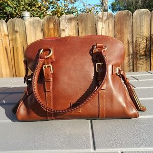 Dooney & Bourke domed buckle satchel bag